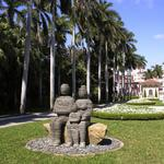 """The Family"" - 2008 Bronze, Bluestone, Boulder 74 x 115 x 115 inches. Ed. of 5. Temporary installation, Boca Raton, FL"